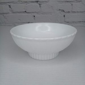 VNTG FTD 1975 milkglass bark design bowl/planter